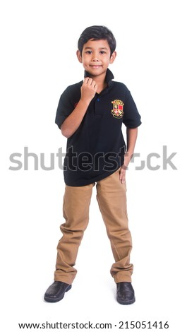 Boy. Asian malay boy on the background. - stock photo