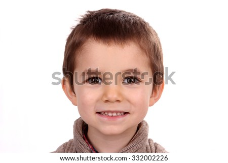 boy child portrait - stock photo
