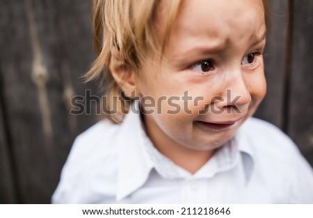 boy crying - stock photo