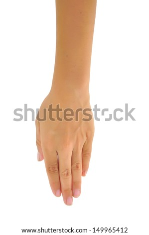 boy hand (palm) isolated on white background