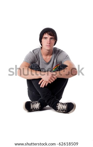 boy in a sports-style - stock photo