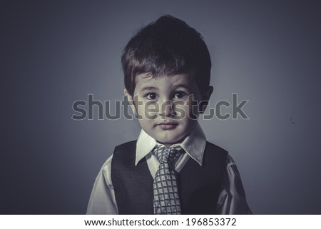 boy in suit and tie, Business concept - stock photo