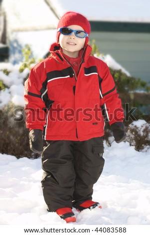 boy in winter - stock photo