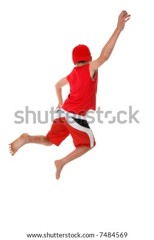 dancer jumping into the air royalty free stock photos