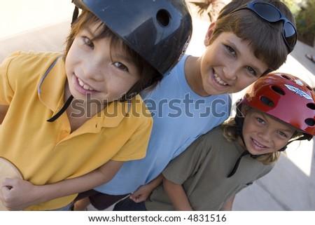 Boy on Skateboard - stock photo