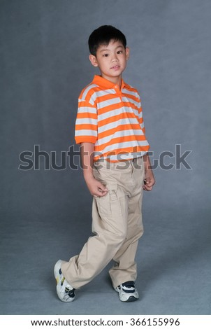 boy or boy playing on the background - stock photo