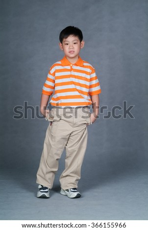 boy or boy presenting on the background - stock photo