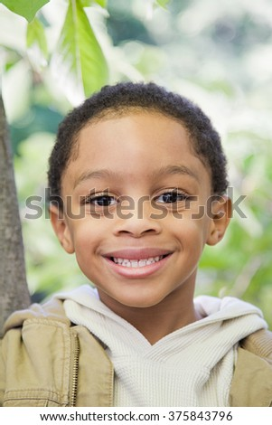 Boy outdoors - stock photo