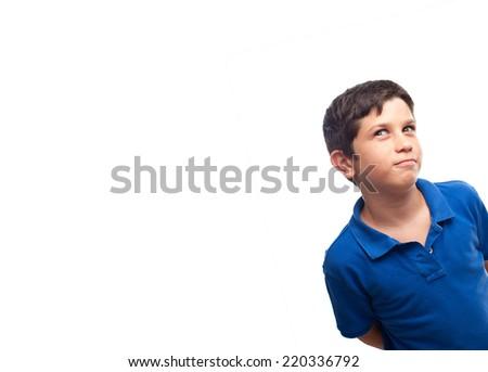 boy pensive - stock photo
