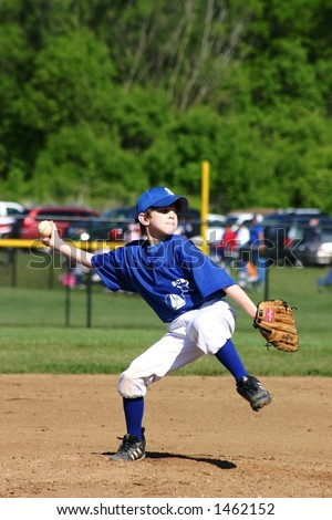 Boy Pitcher - stock photo
