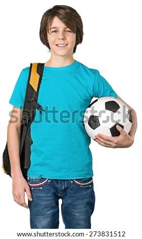 Boy, play, smile. - stock photo