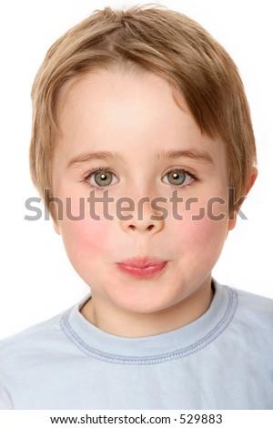 Boy pout - stock photo