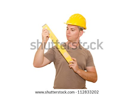 boy safely to work - stock photo