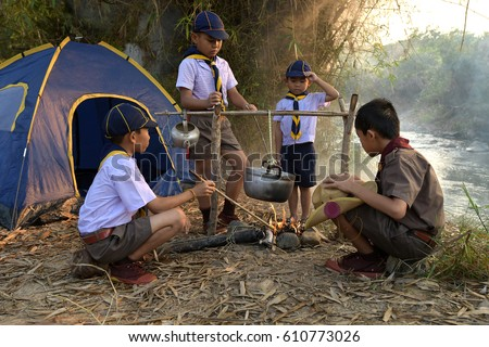 Boy Scouting activities & Boy Scout Stock Images Royalty-Free Images u0026 Vectors | Shutterstock