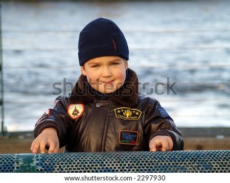 boy smile - stock photo