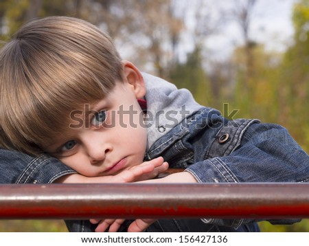 boy thinking - stock photo