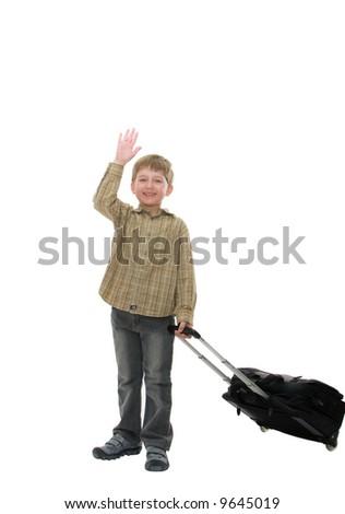 boy-traveler - stock photo