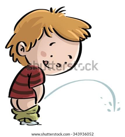 Cartoon Boy Peeing On