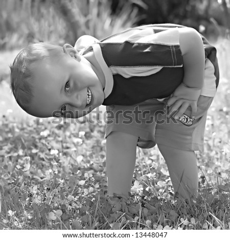 Boy - vintage photography - stock photo
