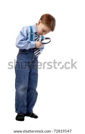 Boy with a magnifier