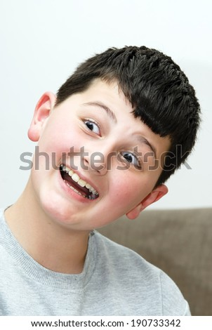boy with a smile - stock photo