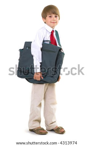 Boy with bag - stock photo