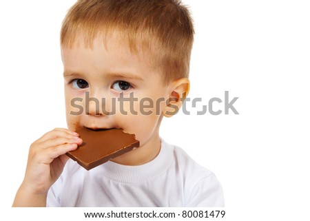 boy with chocolate