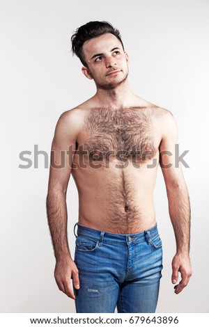 Hairy Guys chest with