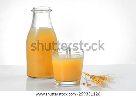 Boza drink from fermented cereal beverage - stock photo