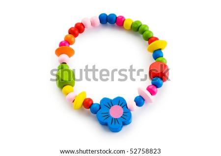 Bracelet isolated on the white background - stock photo