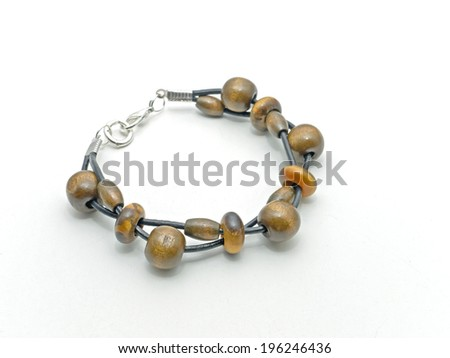 Bracelet made of leather - stock photo