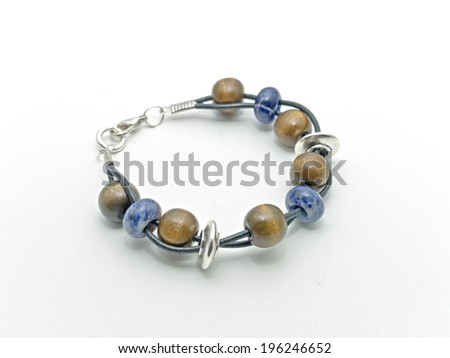 Bracelet made of leather - stock photo