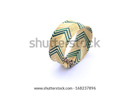 bracelet on the white background - stock photo