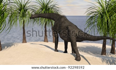 brachiosaurus on hill