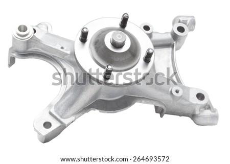 bracket fan car engine on a white background - stock photo
