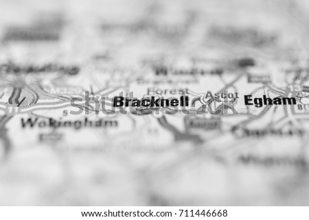 Bracknell On Map Stock Photo 711446668 Shutterstock