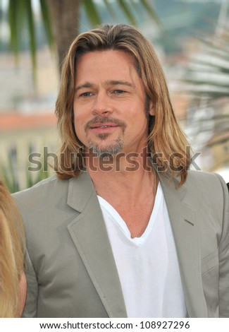 "Brad Pitt at photocall for his new movie ""Killing Them Softly"" in competition at the 65th Festival de Cannes. May 22, 2012  Cannes, France Picture: Paul Smith / Featureflash - stock photo"