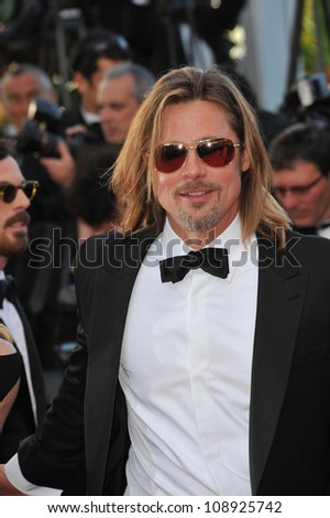 "Brad Pitt at the gala screening of his new movie ""Killing Them Softly"" in competition at the 65th Festival de Cannes. May 22, 2012  Cannes, France Picture: Paul Smith / Featureflash"