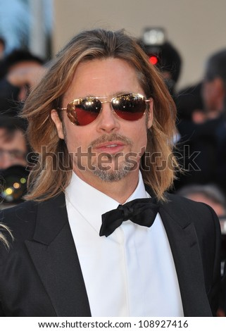 """Brad Pitt at the gala screening of his new movie """"Killing Them Softly"""" in competition at the 65th Festival de Cannes. May 22, 2012  Cannes, France Picture: Paul Smith / Featureflash - stock photo"""