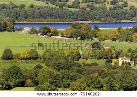 Bradfield Dale in Peak District National Park Derbyshire England - stock photo