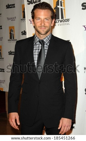 Bradley Cooper at The Hollywood Film Awards, Beverly Hilton Hotel, Beverly Hills, NY October 26, 2009 - stock photo
