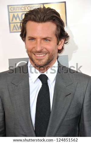 Bradley Cooper at the 18th Annual Critics' Choice Movie Awards at Barker Hanger, Santa Monica Airport. January 10, 2013  Santa Monica, CA Picture: Paul Smith - stock photo