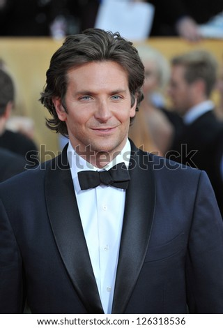 Bradley Cooper at the 19th Annual Screen Actors Guild Awards at the Shrine Auditorium, Los Angeles. January 27, 2013  Los Angeles, CA Picture: Paul Smith - stock photo