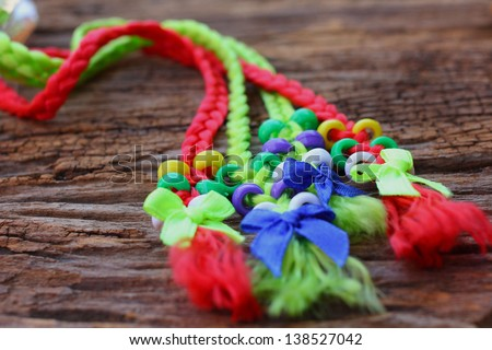 Braid decorated with beads