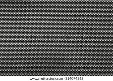 Braided black fabric background. - stock photo