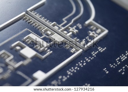 Braille for bilnd people - stock photo