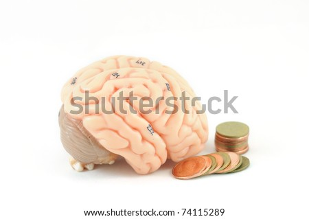 brain and coin