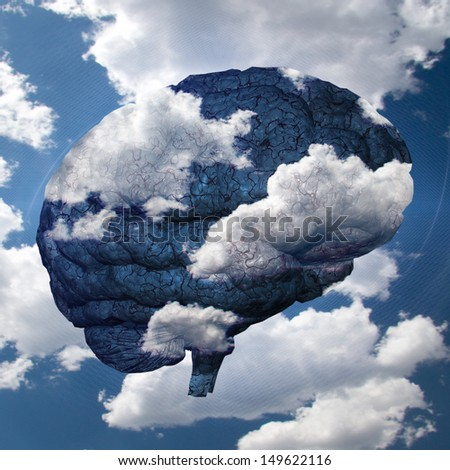Brain Cloud - stock photo