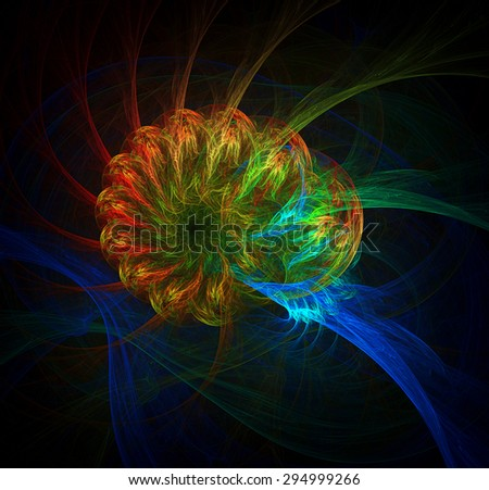 Brain Connection abstract illustration - stock photo