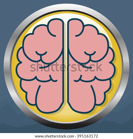 Brain icon - stock photo